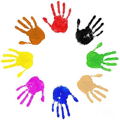 Hands Circle Print by Richard Thomas
