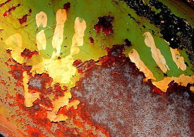 Hands On Iron Print by Ken McBride