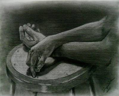 Hands Print by Terry DeMars
