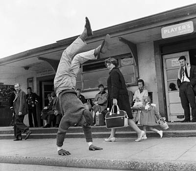 People Watching Photograph - Handstand by John Drysdale