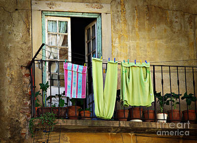 Routine Photograph - Hanged Clothes by Carlos Caetano