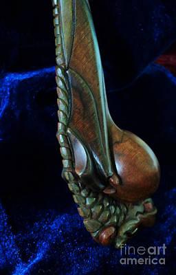 Burl Photograph - Hanging Hatchling Dragon by Padre Art