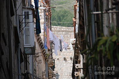 Hanging Out In Dubrovnik Print by Barry Luroe