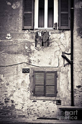 Hanging Out To Dry Print by Silvia Ganora