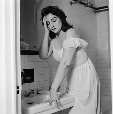 Domestic Bathroom Photograph - Hangover? by Sherman