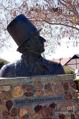Hans Christian Andersen Statue In The Park In Solvang California Print by Susanne Van Hulst