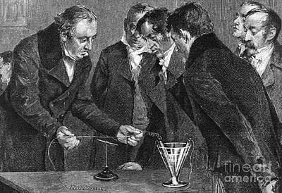 Hans Christian �rsted, Danish Physicist Print by Science Source
