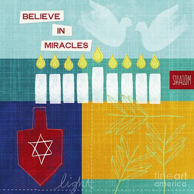 Dove Mixed Media - Hanukkah Miracles by Linda Woods