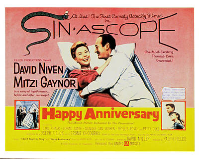 Happy Anniversary, Mitzi Gaynor, David Print by Everett
