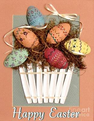 Happy Easter Print by Marilyn Smith