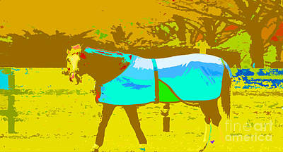 Teen Licensing Mixed Media - Happy Horse Pop Art by Artyzen Studios