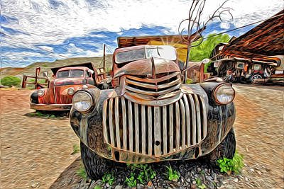 Old Trucks Photograph - Happy Truck by James Steele
