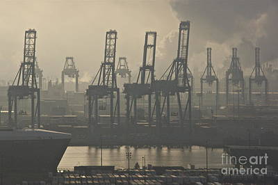Tacoma Photograph - Harbor Cranes by Sean Griffin