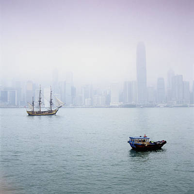 Development Of Life Photograph - Harbor View, Hong Kong, China by Brian Caissie