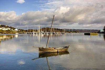 Harbour In Tarbert Scotland, Uk Print by John Short
