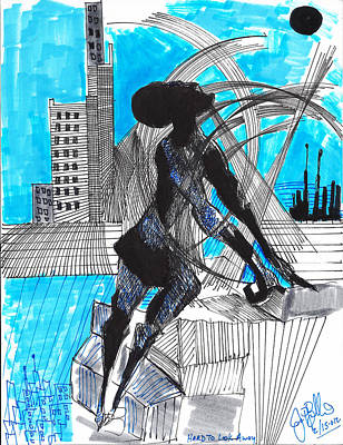 Hard To Look Away  Print by Jon Baldwin  Art