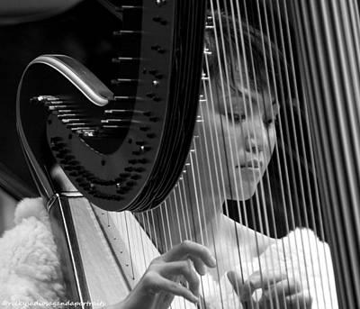 Harpist Original by Enrique Rueda