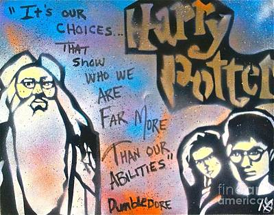 Moral Painting - Harry Potter And  Dumbledore by Tony B Conscious