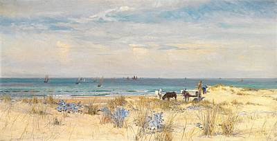 Horse And Cart Painting - Harvesting The Land And The Sea by William Lionel Wyllie