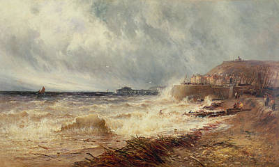 Mist Painting - Hastings by Gustave de Breanski