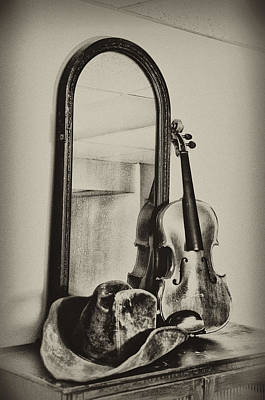 Hat And Fiddle Print by Bill Cannon