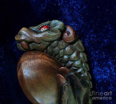 Burl Photograph - Hatchling Dragon Profile by Padre Art