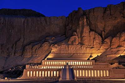 Hatshepsuts Mortuary Temple Rises Print by Kenneth Garrett