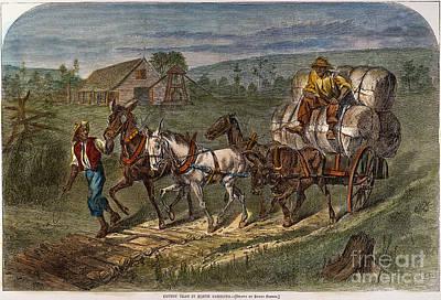 Hauling Cotton, 1866 Print by Granger