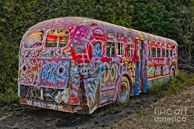 Haunted Graffiti Bus II Print by Susan Candelario