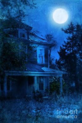 Haunted House Photograph - Haunted House Full Moon by Jill Battaglia