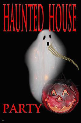 Haunted House Party Mixed Media - Haunted House Party by Debra     Vatalaro