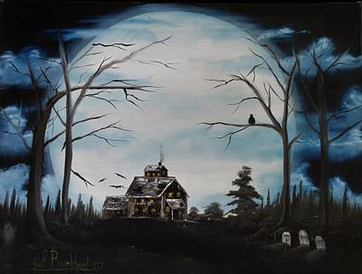 Haunted House Painting - Haunted Mansion 2006 by Shawna Burkhart