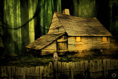 Haunted Shack Print by Lourry Legarde