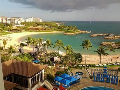 Ko Olina Lagoon Photograph - Hawaiian Lagoon In Ko Olina Oahu Hawaii by Andy Kim