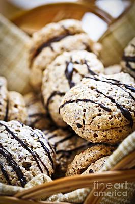 Hazelnut Cookies Print by Elena Elisseeva