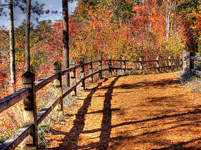 Hdr- Fenced Path Print by Joe Myeress