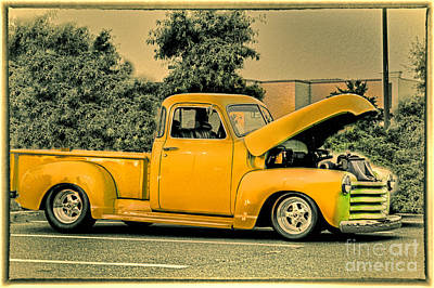 Buy Sell Photograph - Hdr Pick Up Truck Old School Photo Pictures New Buy Sell Selling Photography Art Car Cars Vintage  by Pictures HDR