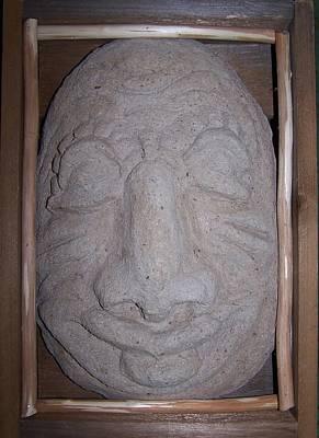 Hypertufa Photograph - Head In The Box by Susan Saver