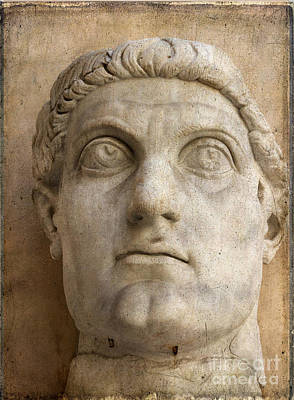 Capitoline Photograph - Head Of Emperor Constantine. Rome. Italy by Bernard Jaubert