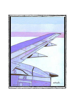 Airliners Painting - Headed Somewhere In Flight by Robert Boyette
