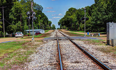 Railroad Photograph - Heading South by Barry Jones
