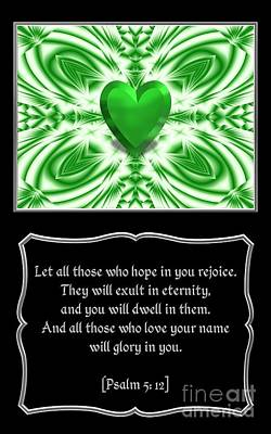 Passage Photograph - Heart And Love Design 10 With Bible Quote by Rose Santuci-Sofranko