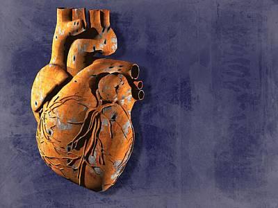 Heart Disease, Conceptual Artwork Print by Laguna Design
