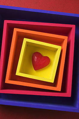 Heart In Boxes  Print by Garry Gay