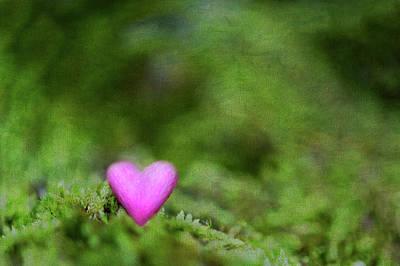 Heart In Moss Print by Alexandre Fundone