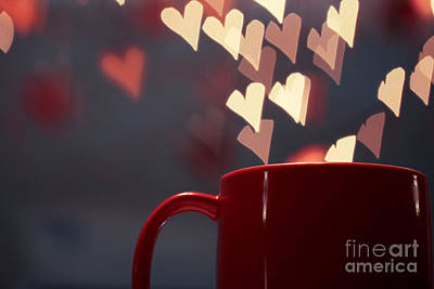 Heart In My Cup Of Coffee Print by Soultana Koleska