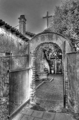 Heavenly Doorway Bw Print by Bryan Steffy