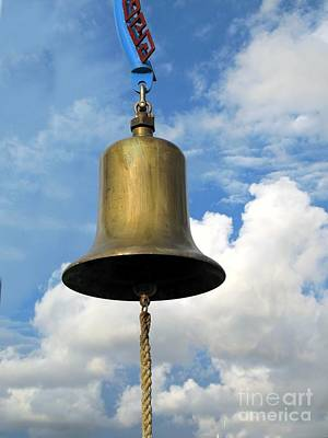 Heavy Bronze Bell Print by Yali Shi