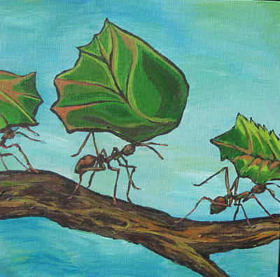 Ant Painting - Heavy Load by Sandy Tracey