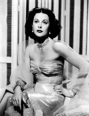 Hedy Lamarr In Promotional Photo For My Print by Everett